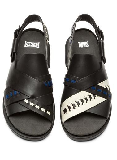 Camper Deri Sandalet Renkli